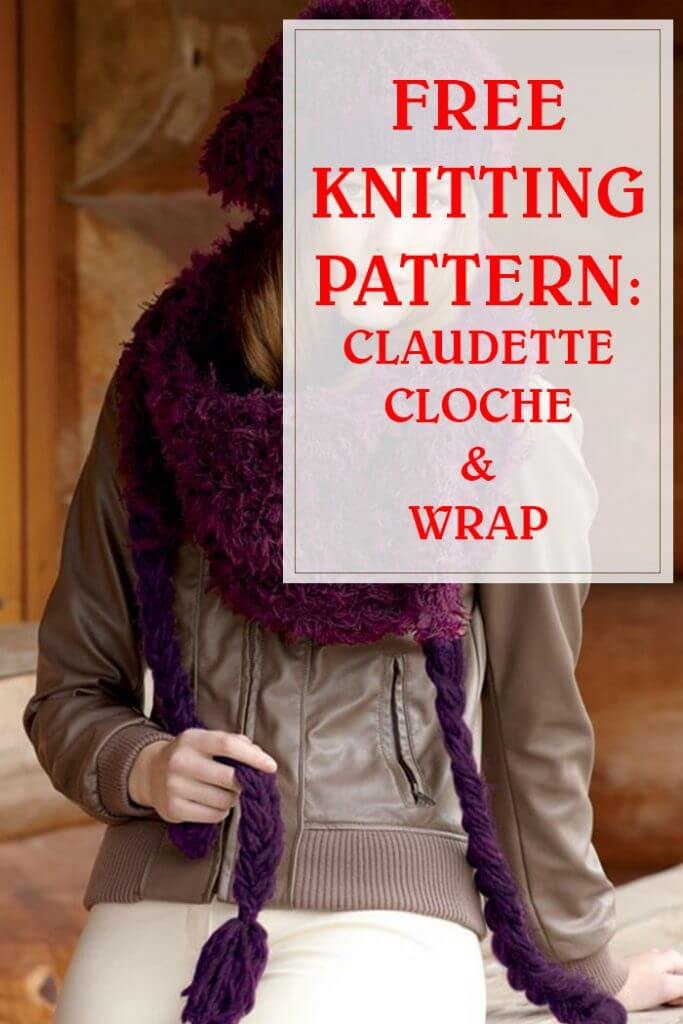 Claudette Cloche & Wrap Free Knitting Pattern