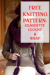 Claudette Cloche & Wrap Free Knitting Pattern THUMP