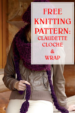 Claudette Cloche & Wrap Free Knitting Pattern THUMP
