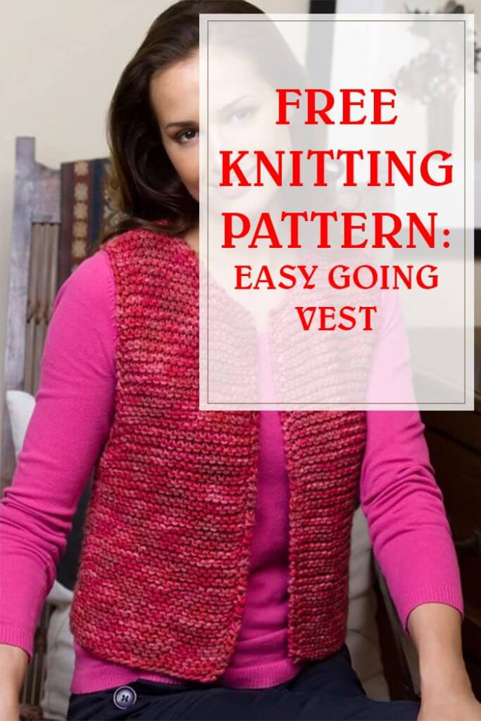 Easy And Free Knit Pattern Going Vest