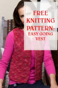 Easy And Free Knit Pattern Going Vest THUMP