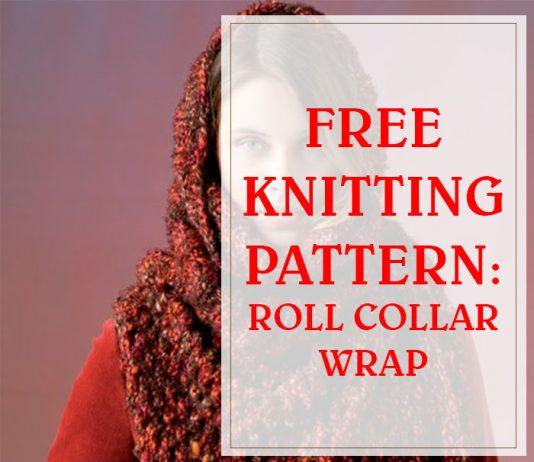 Easy Free Knitting Roll Collar Wrap THUMP