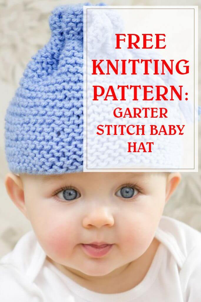 Garter Stitch Baby Hat Knitting Pattern