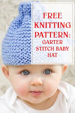 Garter Stitch Baby Hat Knitting Pattern thump