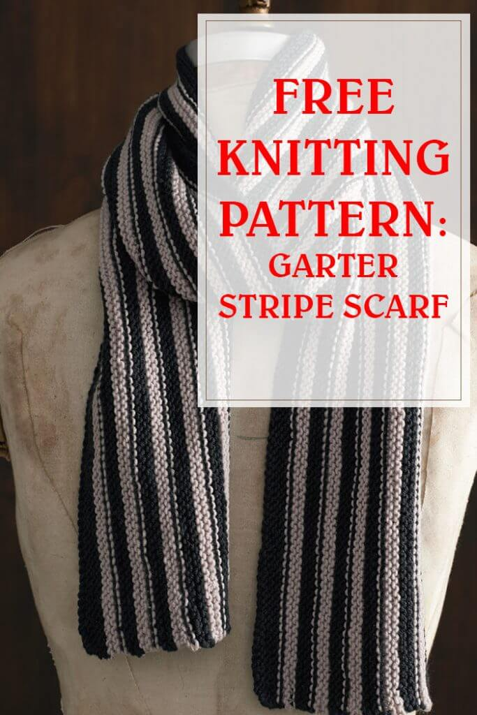 Garter Stripe Scarf Knitting Pattern