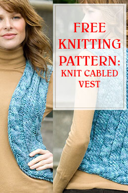 Knit Cabled Vest THUMP