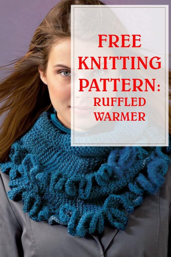 Ruffled Warmer Free Knitting Pattern