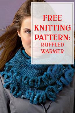 Ruffled Warmer Free Knitting Pattern THUMP