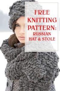 Russian Hat & Stole Knitting Pattern THUMP