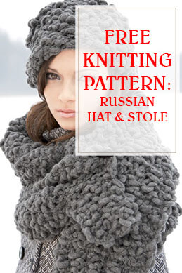 Russian Hat & Stole Knitting Pattern THUMP