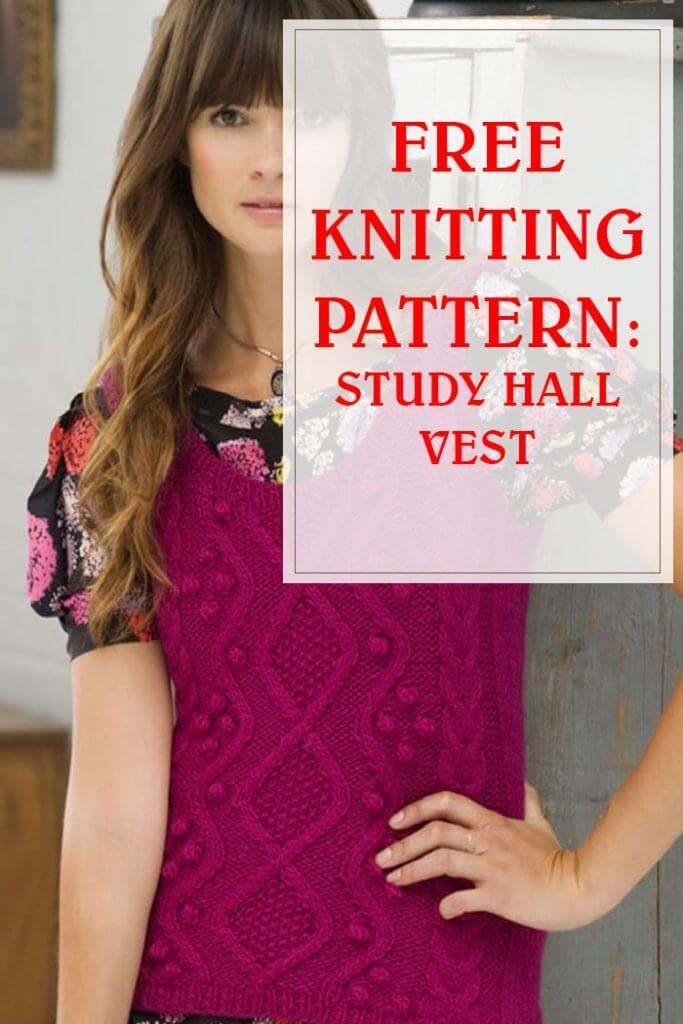 Study Hall Vest Free Knitting Pattern