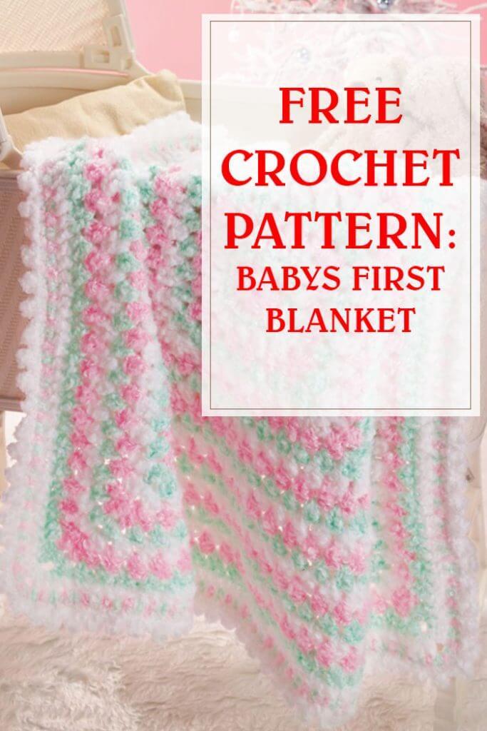 Babys First Blanket Crochet Pattern pinterest
