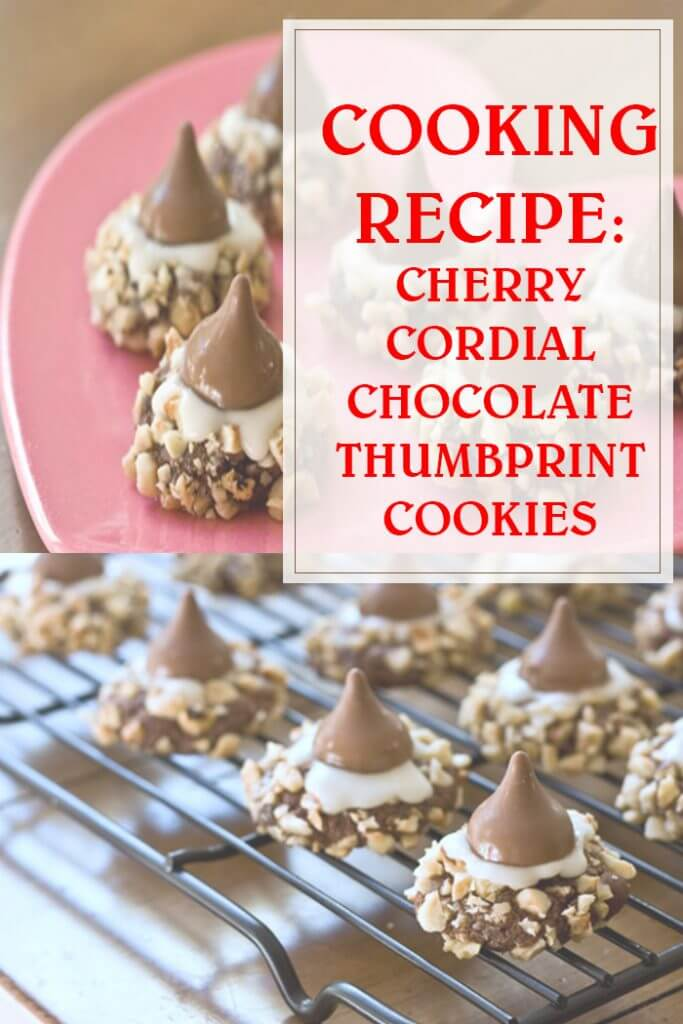 Cherry Cordial Chocolate Thumbprint Cookies