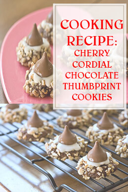Cherry Cordial Chocolate Thumbprint Cookies thump