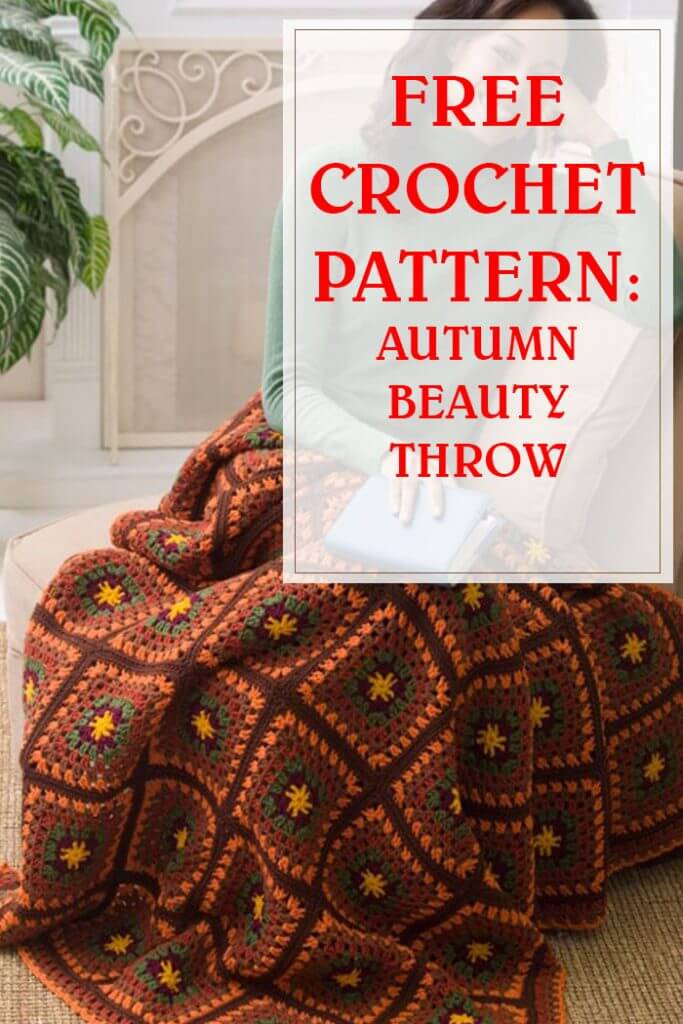 Free Crochet Pattern Autumn Beauty Throw