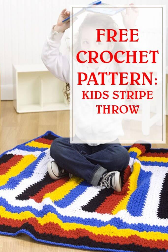 Kids Stripe Throw Crochet Pattern