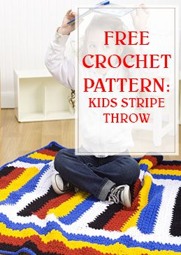 Kids Stripe Throw Crochet Pattern THUMP