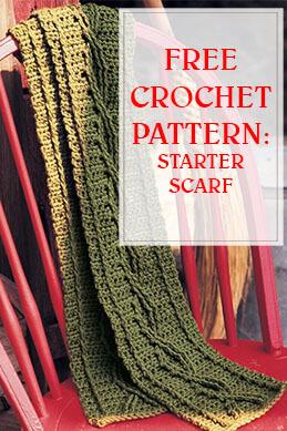 Starter Scarf Free Crochet Pattern thump
