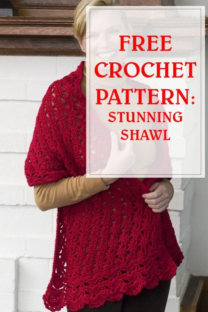 Stunning Shawl Free Crochet Pattern
