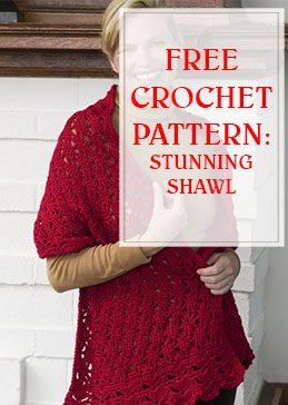Stunning Shawl Free Crochet Pattern thump