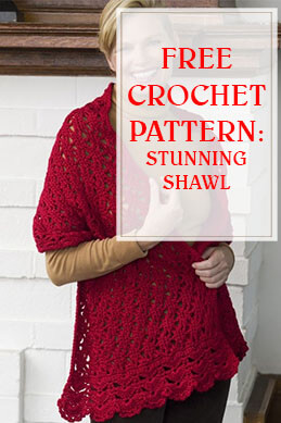 Stunning Shawl Free Crochet Pattern thump