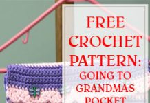 free crochet pattern going to grandmas pocket on hanger