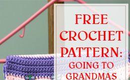 free crochet pattern going to grandmas pocket on hanger