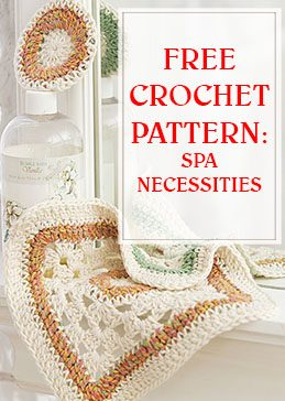 free crochet pattern spa necessities