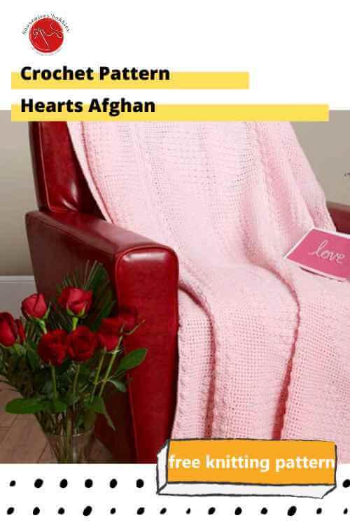 Crochet Pattern Hearts Afghan Free