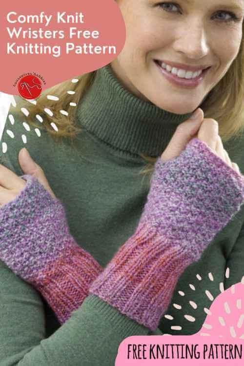 Comfy Knit Wristers Free Knitting Pattern