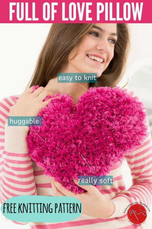 Free Knitting Pattern Heart Full of Love Pillow