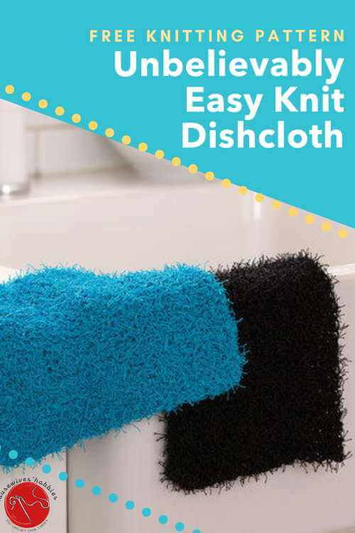 Free Knitting Pattern Unbelievably Easy Knit Dishcloth