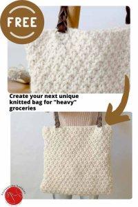 Aspen Mountain Knit Tote Free Knitting Pattern