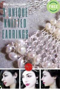 Bijouterie Earrings Free Knitting Pattern