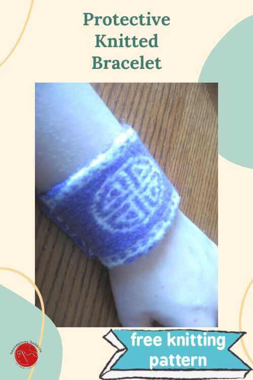 Celtic Shield Knot Bracelet Free Knitting Pattern