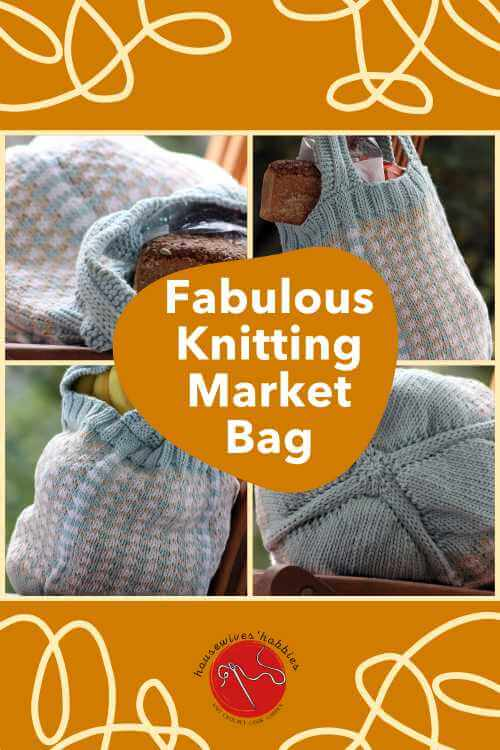 Fair Isle Market Bag Free Knitting Pattern
