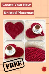 Heart Placemat Free Knitting Pattern