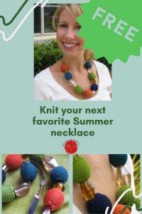 Julie Necklace Free Knitting Pattern