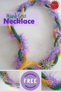 Mardi Gras Necklace Free Knitting Pattern