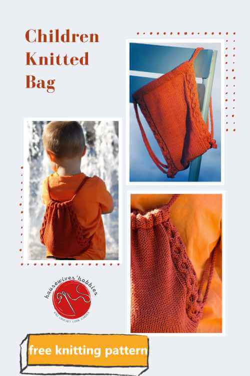 Treasure Knitted Backpack Free Pattern