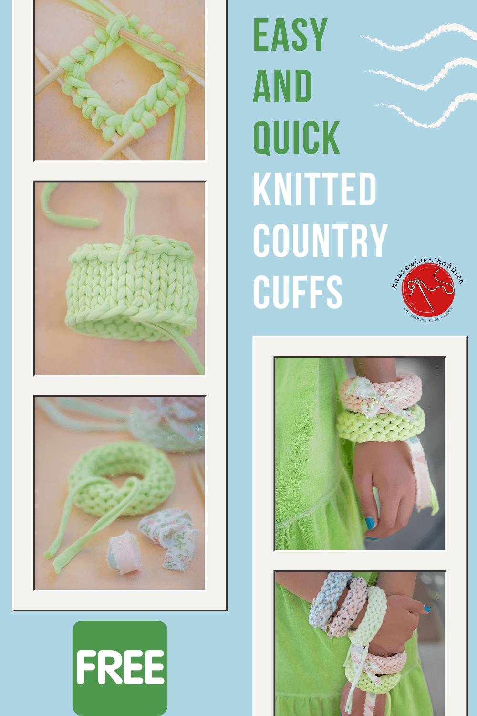 Country Charm Cuffs Free Knitting Pattern