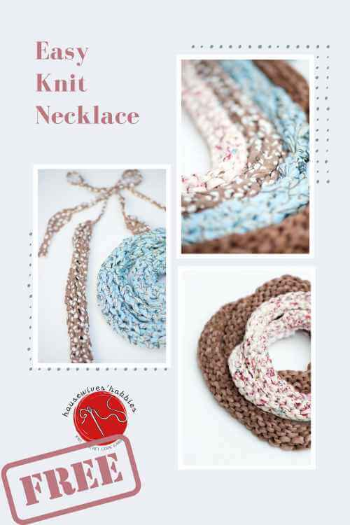 Easy Knit Necklace Free Knitting Pattern