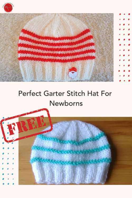 Garter Ridge Baby Hat Free Knitting Pattern