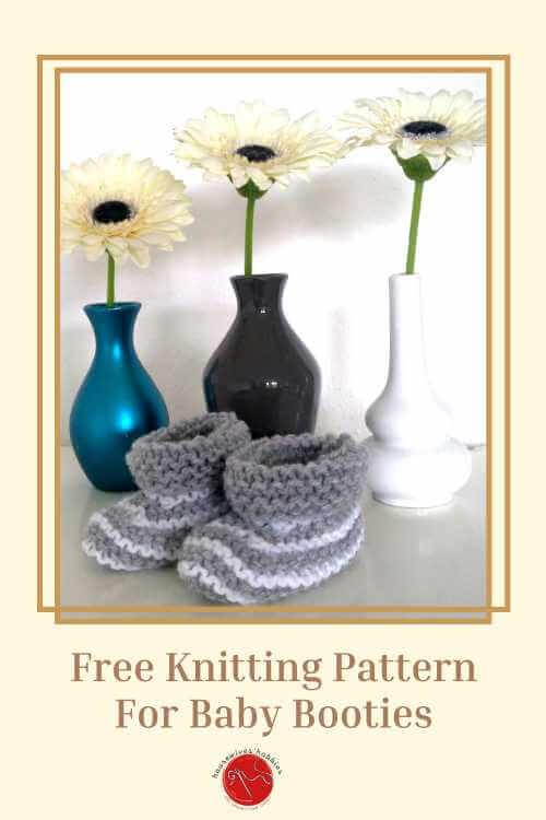 Tiny Striped Moccasins Free Knitting Pattern
