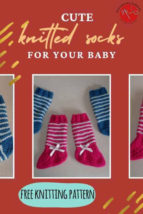 Two Needle Free Knitting Pattern Baby Socks