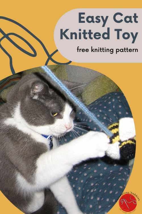 Bumble Knitted Cat Toy