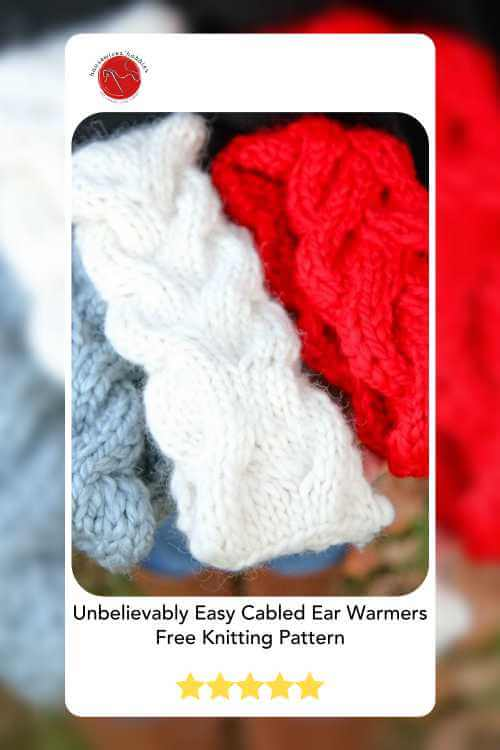 Unbelievably Easy Cabled Ear Warmers Free Knitting Pattern