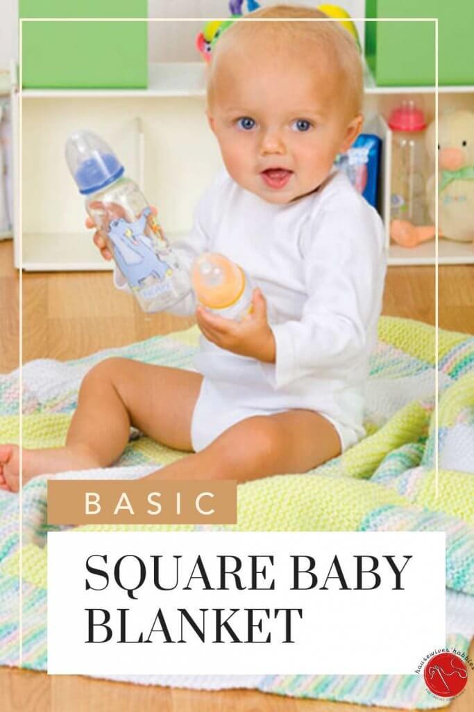 Square Baby Blanket Knitting Pattern