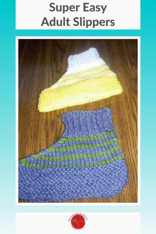 Super Easy Adult Knitted Slippers