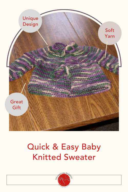 Yoked Quick Easy Baby Sweater Knitting Pattern